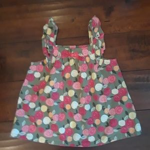 Gymboree cabbage rose Tank Top sz 5T